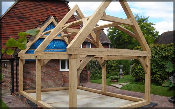 Oak Framed Porches Barns Amp Porches Oak Framing