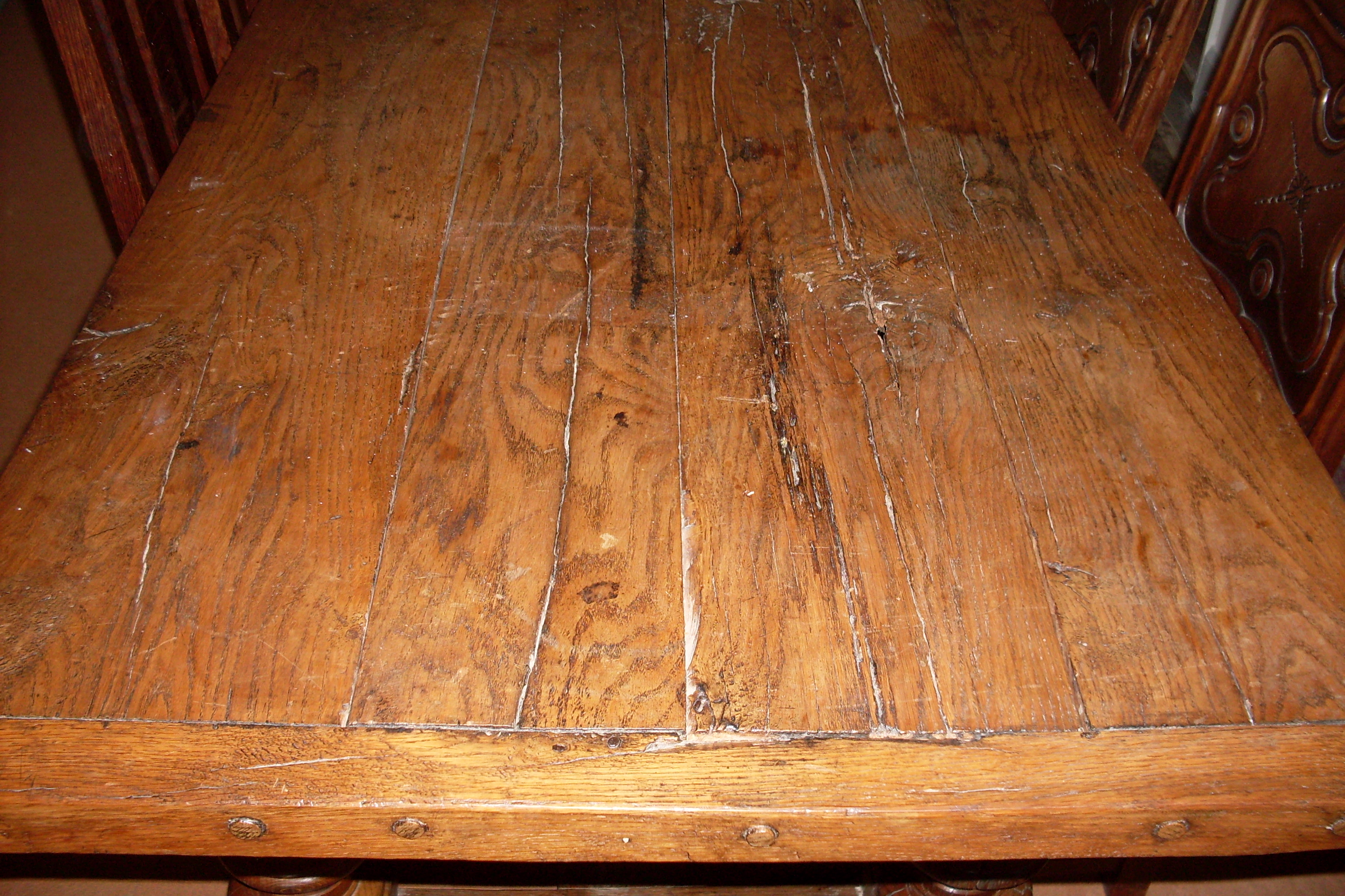 Medieval Style Oak Table Has Been Hand Made From Reclaimed Oak. Full resolution‎  img, nominally Width 3072 Height 2048 pixels, img with #BC710F.